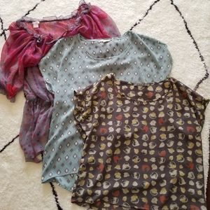 Lot of 3 Flowy Nordstrom Tops Small